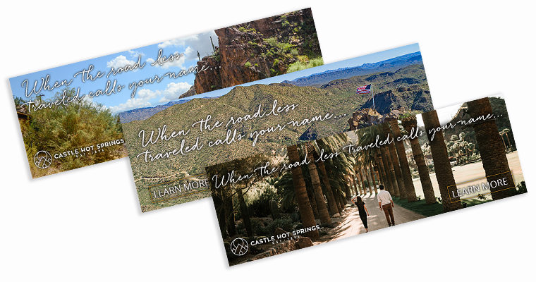 Castle Hot Springs – Digital Ads
