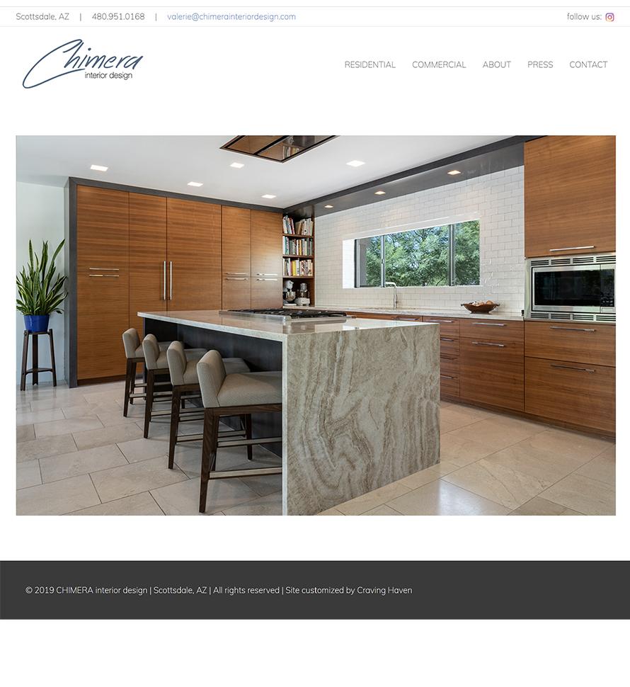 Chimera Interior Design Website