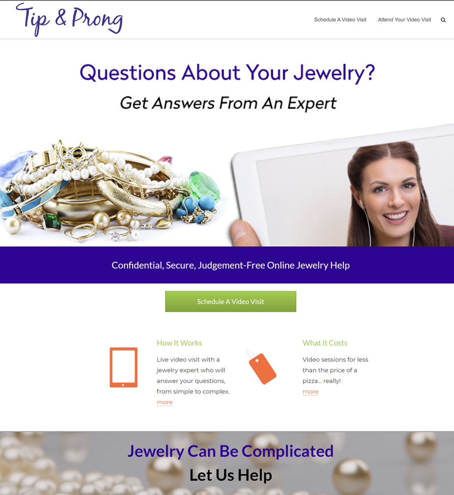 Tip and Prong Jewelry website